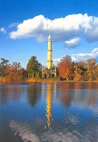 Minaret vzámecké zahradě zámku Lednice
