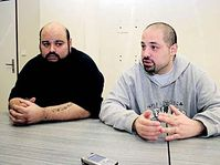 John Moore (left) with his brother Joseph Carrano, photo: Milan Vojtek, Právo