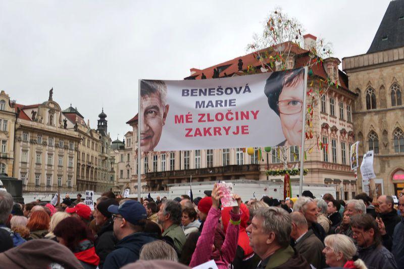 Protestas contra el nombramiento de la nueva ministra de Justicia, foto: Martina Schneibergová