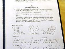 L'accord de coalition, photo: CTK
