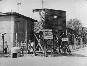 Wachturm am Häftlingslager in Leitmeritz (Foto: Archiv der Gedenkstätte Theresienstadt)