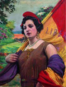 'República Española' (1931) por el pintor Teodoro Andreu,  foto: Noulas /CC BY-SA 3.0 Propiedad de la Colección Joan J. Gavara