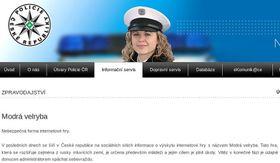 Página Oficial del Policia ČR: 'La Ballena Azul'