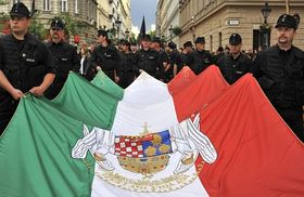 Nationalistische Demonstration der Ungarischen Garde in Budapest (Foto: ČTK)