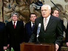 Präsident Vaclav Klaus mit Vorsitzenden der im Abgeordnetenhaus vertretenen Parteien (Foto: CTK)