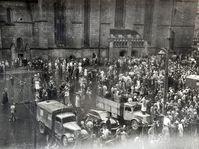 Nepokoje v Plzni po vyhlášení měnové reformy, foto: Státní oblastní archiv v Plzni
