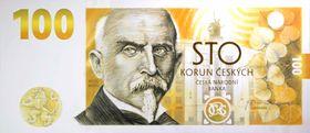 Le billet commémoratif d'Alois Rašín, source: ČNB
