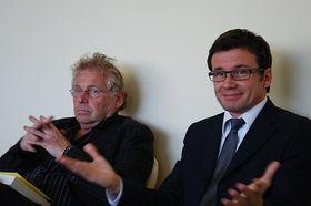 Daniel Cohn-Bendit et le chef du Parti des Verts, Ondřej Liška, photo: Anne-Claire Veluire