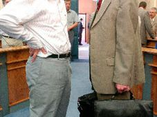 Stanislav Gross et Bohuslav Sobotka, photo: CTK