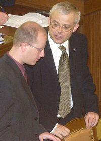 Bohuslav Sobotka con Vladimir Spidla, foto: CTK