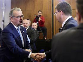 Miroslav Kalousek et Jiří Pospíšil, photo: ČTK