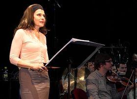 Fanny Ardant au cours de la répétition de Cassandre, photo: Institut français de Prague