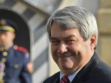 Председатель компартии Войтех Филип после встречи с Милошом Земаном, фото: ЧТК