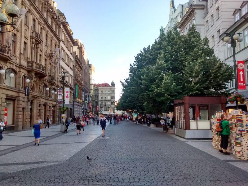 La rue Na Příkopě, photo: Mr. Granger, public domain