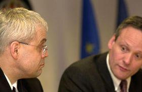 Vladimír Spidla y Cyril Svoboda en Bruselas, foto: CTK