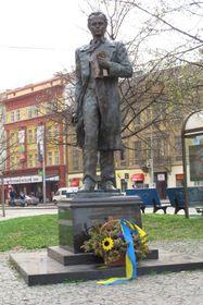 Памятник Тарасу Шевченко на площади Кинских, Фото: Кристина Макова, Чешское радио - Радио Прага