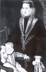 María Manrique de Lara con su hija Polyxena