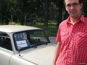 Vladimir Vlach with his 'de luxe' Trabant