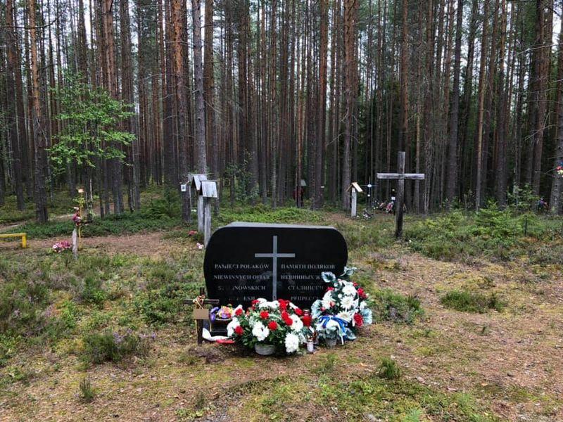 Стела в память о поляках, уничтоженных в Сандармохе, фото: Ивана Миленковичова, ЧРо