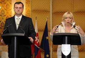 Petr Nečas y Iveta Radičová, foto: ČTK
