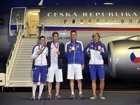Zuzana Hejnová, David Svoboda, Jaroslav Kulhavý, Barbora Špotáková, photo: CTK