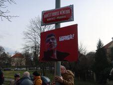 Площадь им. Бориса Немцова перед посольством России в Праге, фото: Антон Каймаков