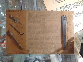 Frištenský's artifacts from Nazi prison, photo: Petr Slinták / Czech Radio