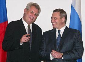 Милош Земан и Михаил Касьянов (Фото: ЧТК)