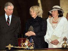 Принц Чарльз, его супруга Камилла и Ливия Клаусова (Фото: ЧТК)