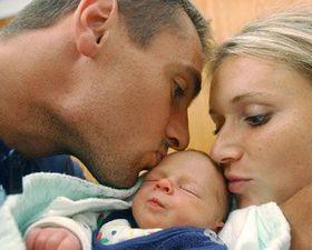 Roman Sebrle and his family, photo: CTK