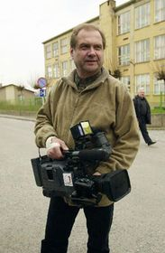 The attacked cameraman of the Czech TV, photo: CTK