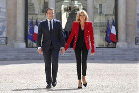 Emmanuel Macron avec sa femme, photo: ČTK