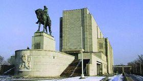 Jezdecká socha Jana Žižky na pražském Vítkově