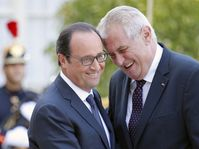 François Hollande et Miloš Zeman, photo: ČTK