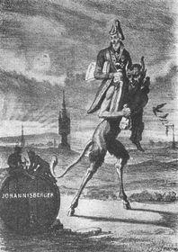 Dobová karikatura knížete Metternicha od J. Grädnera
