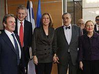Bernard Kouchner, Carl Bildt, Tzipi Livni, Karel Schwarzenberg et  Benita Ferrero Waldner à Jérusalem, photo: CTK