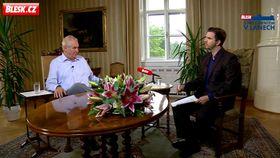 Видеопрограмма «Blesk с президентом в Ланах», фото: Blesk