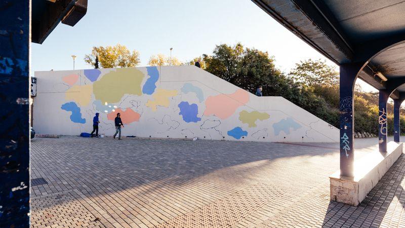 Les murs de la station de métro Vltavská, photo: Jan Volejníček
