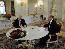 Prezident Václav Klaus 27. prosince jako host diskusního pořadu televize Prima Partie, foto: ČTK
