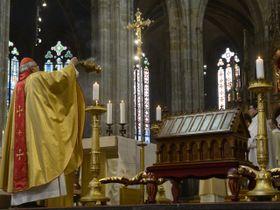 Misa en honor a San Adalberto en la Catedral de San Vito, foto: ČTK