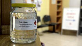 Anti-Covid disinfectant, photo: Kristián Těmín, Czech Radio