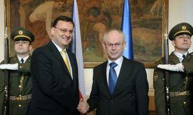 Petr Nečas et Herman Van Rompuy, photo: CTK