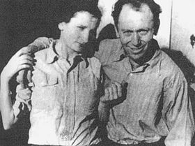Jozo Weider with his wife
