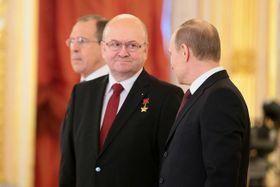 Владимир Ремек с Владимиром Путиным и Сергеем Лавровым, фото: CC BY 4.0