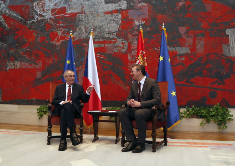 Miloš Zeman und Aleksandar Vučić (Foto: ČTK / AP Photo / Darko Vojinovic)