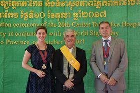 Barbora Vlasová (links). Foto: Archiv der tschechischen Botschaft in Kambodscha
