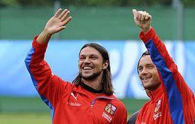 Tomáš Ujfaluši and Marek Jankulovski, photo: CTK
