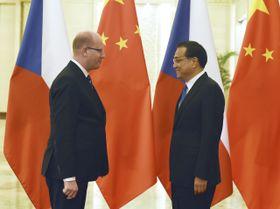 Богуслав Соботка и премьер-министр Китая Линь Цюань, Фото: ЧТК