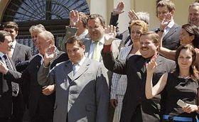 Zasedání vlády 3. července na zámku vKolodějích, foto: ČTK