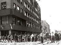 Budova rozhlasu, květen 1945, archiv ČRo